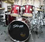 "STAGG TIM 22"" ROCK KIT WINE RED"